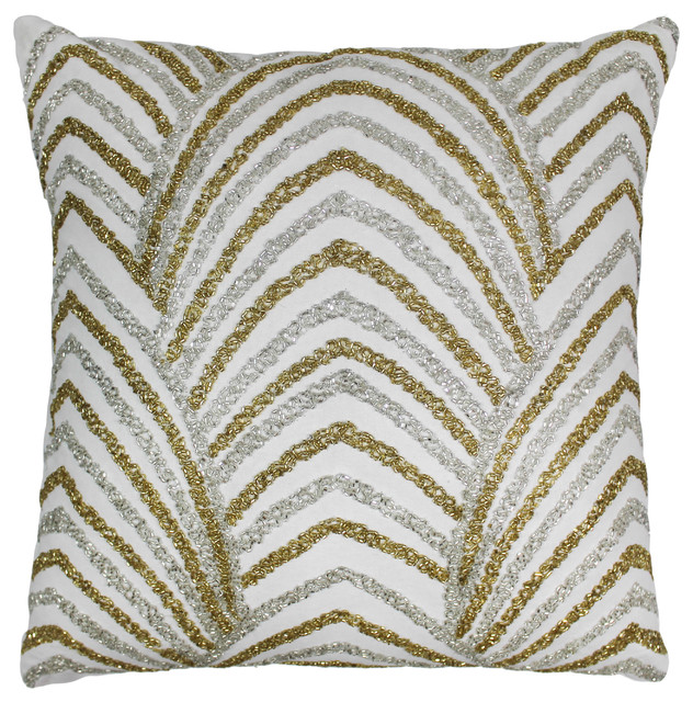 Blazing Needles 20quot Arching Fans Beaded Throw Pillow  : decorative pillows from www.houzz.com size 632 x 640 jpeg 192kB