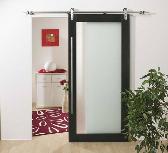Modern Barn Style Wood Sliding Door System Contemporary Interior Doors Hong Kong By