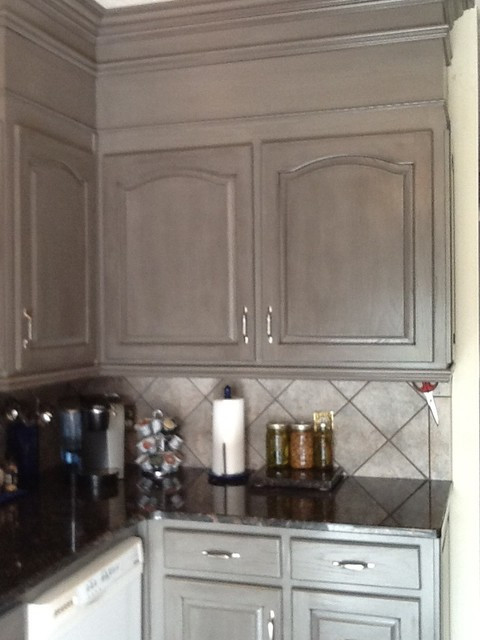 Grey Glazed Kitchen Cabinetry Originally Oak