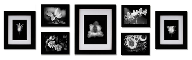 7 Piece Gallery Frame Set Black