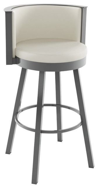 Amisco Refine Swivel Barstool Transitional Bar Stools