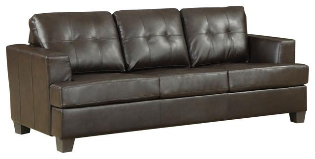 Acme Diamond Bonded Leather Sofa Sleeper Black