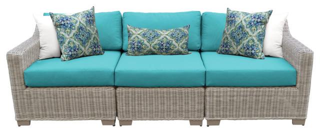 Coast 3 Piece Outdoor Wicker Patio Furniture Set 03c