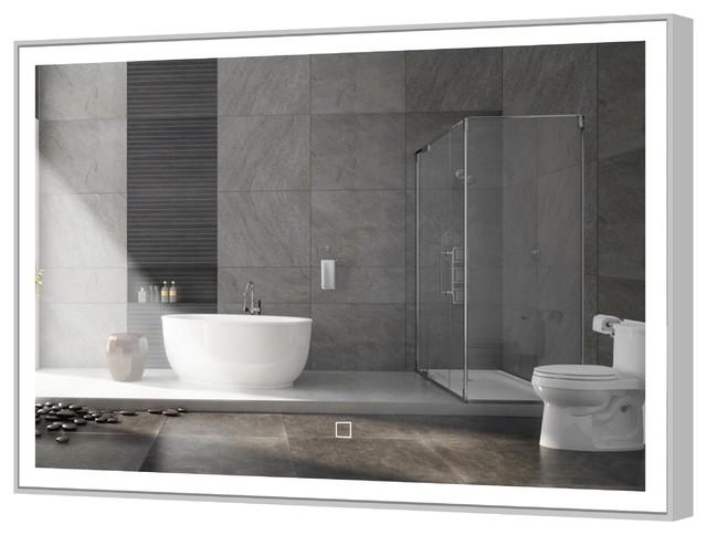 "York Bathroom Mirror With LED Light, 48""x36"""