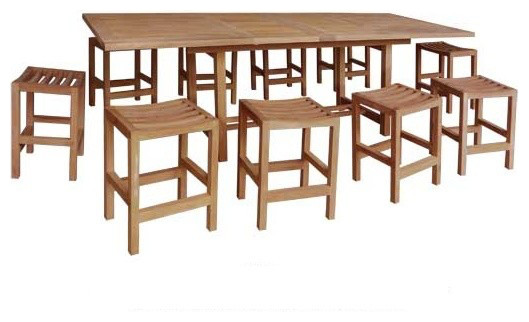 Warner Levitzson Teak Furniture 11 Piece Teak Counter