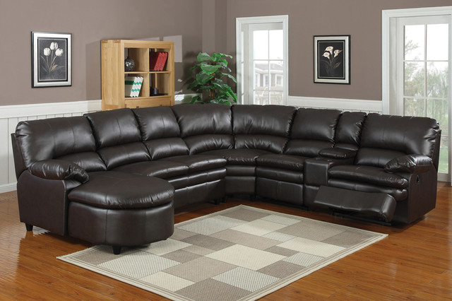 AC Pacific Espresso Leather Reclining Sectional Sofa Chaise Recliner contemporary-sectional-sofas & AC Pacific Espresso Leather Reclining Sectional Sofa Chaise Recliner islam-shia.org