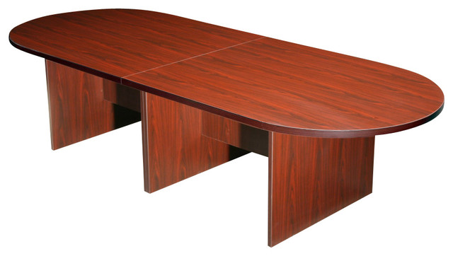Boss Chairs Boss Ft Race Track Conference Table Mahogany - 10 foot conference table