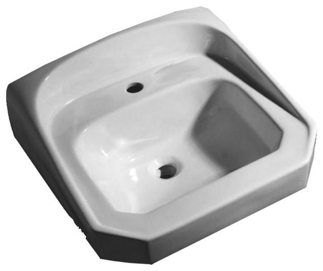 "White PROFLO PF5811 20/"" Vitreous China Wall Mounted Bathroom Sink"