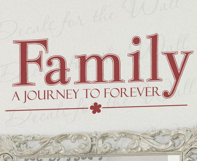 Wall decal quote sticker vinyl art lettering mural family for Mural lettering