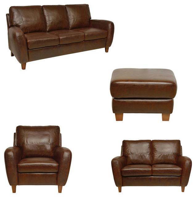 Jennifer Leather Set Living Room 4 Piece Set