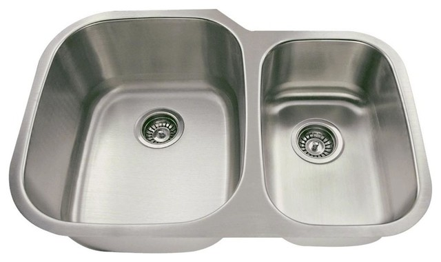 02ec04ced6 506 Offset Double Bowl Stainless Steel Sink - Contemporary - Kitchen ...