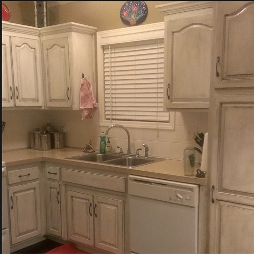 Painting kitchen cabinets a rustic look - Type of paint for bathroom cabinets ...