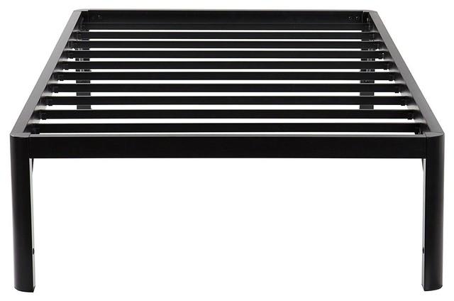 "Twin Xl 16"" High Rise Heavy Duty Metal Platform Bed Frame."