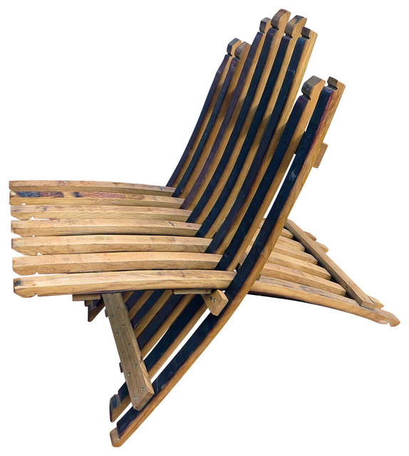 Oak Stave Chaise Lounge Chair, 31l X 22w X 30h.