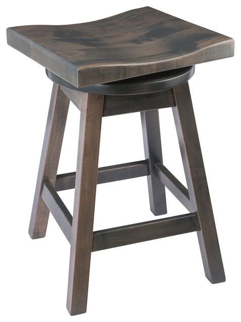 Outstanding Rustic Swivel Saddle Stool Maple Wood Antique Slate Counter Height 24 Onthecornerstone Fun Painted Chair Ideas Images Onthecornerstoneorg