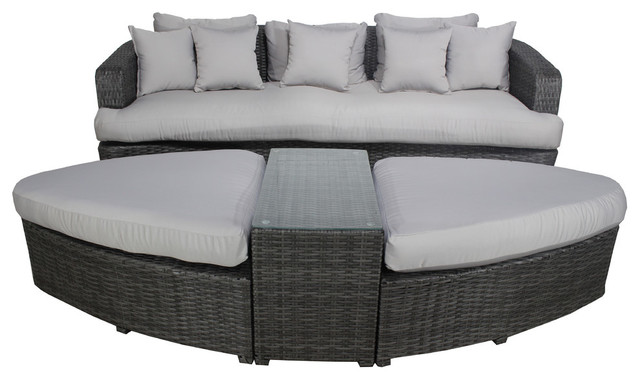 Daytona Deep Seating Set, Gray.