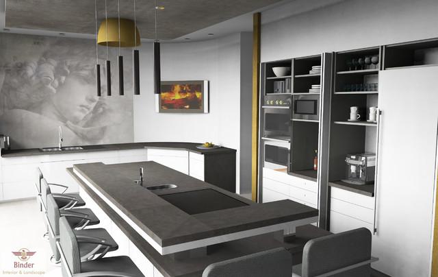 moderne k che mit gro er kochinsel. Black Bedroom Furniture Sets. Home Design Ideas