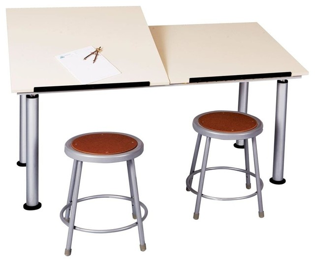 Adaptable Double Station Drawing Table.