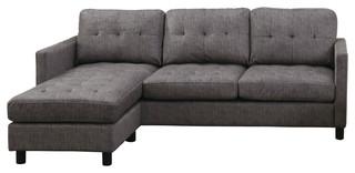 Caesar Reversible Sectional Sofa, Gray