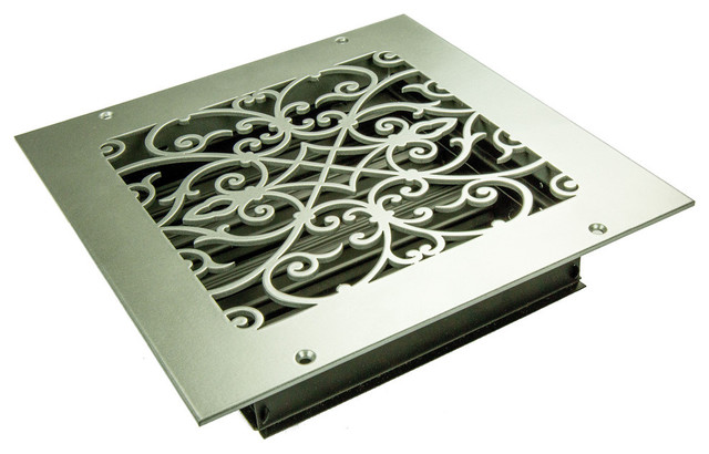 "Corinthian Solid Steel Supply Vent, White, 8""x8"" Supply."