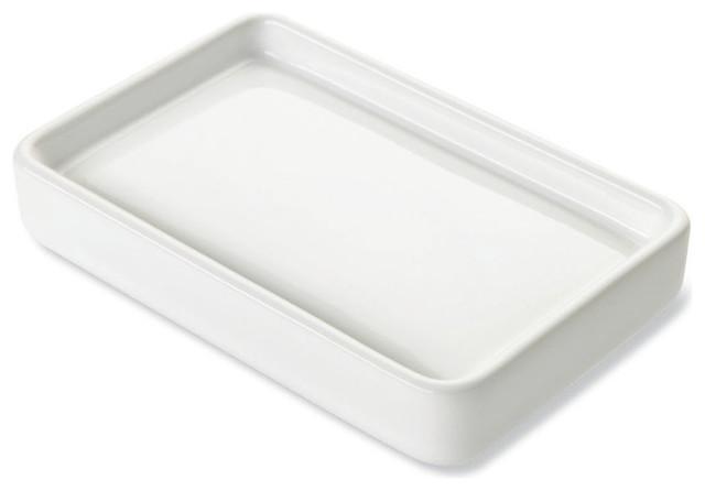 White Ceramic Soap Dish Contemporary Soap Dishes