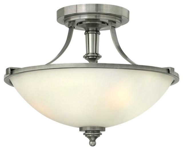 Hinkley Lighting 4021 Truman 3-Light Indoor Semi Flush Ceiling Fixture.