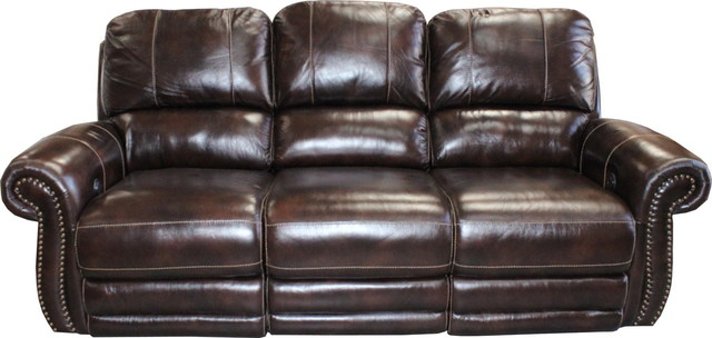 Parker House Thurston Sofa Dual Recliner Power, Havana Traditional Sofas