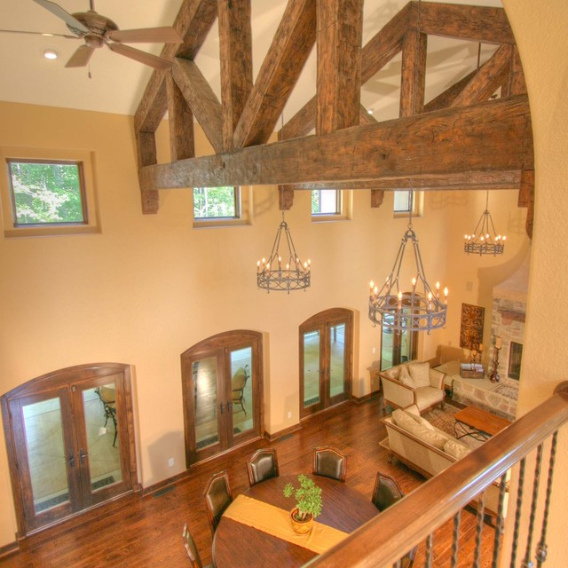Tuscan Inspiration Family Room And Dining Area Rustic