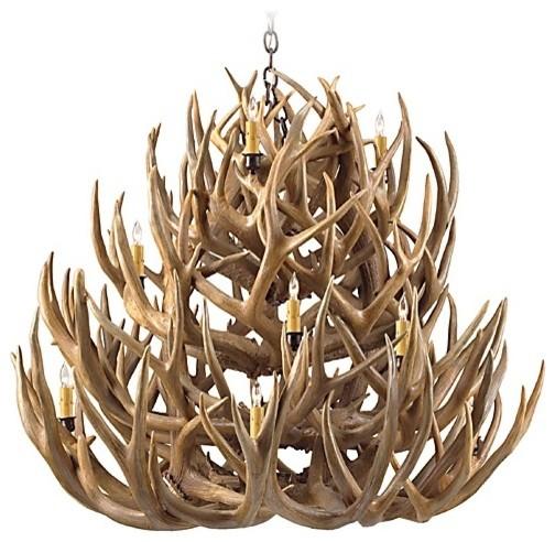 Deer Antler Tiered Chandelier