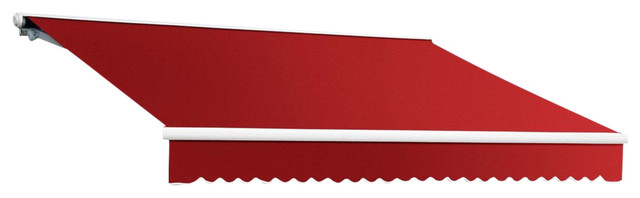 18&x27; Galveston Semi-Cassette Manual Retractable Awning, Red.