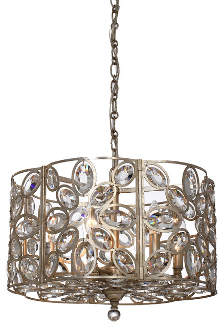 Sterling 6 Light Chandeliers in Distressed Twilight