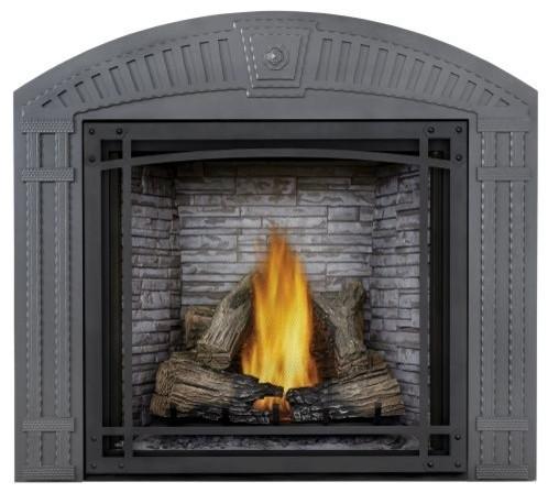Starfire Natural Gas Fireplace, Log Set, Standard Barrier, Custom Blend Panel