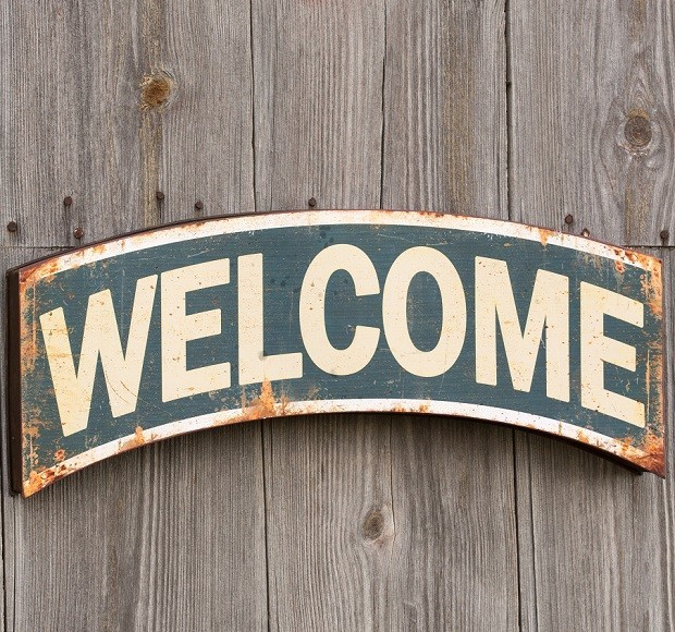 Rustic Metal Welcome Sign Miami By Antique Farmhouse Houzz Uk