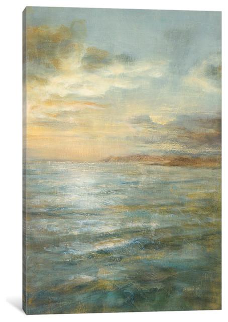 """Serene Sea III Gallery"" by Danhui Nai, 40x26x0.75"""