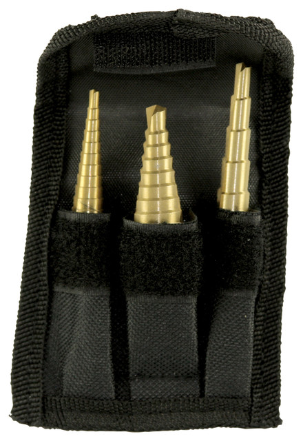 Performance Tool 3-Piece Step Drill Set.