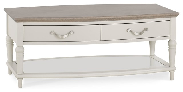 Morris White Storage Coffee Table With Drawers.