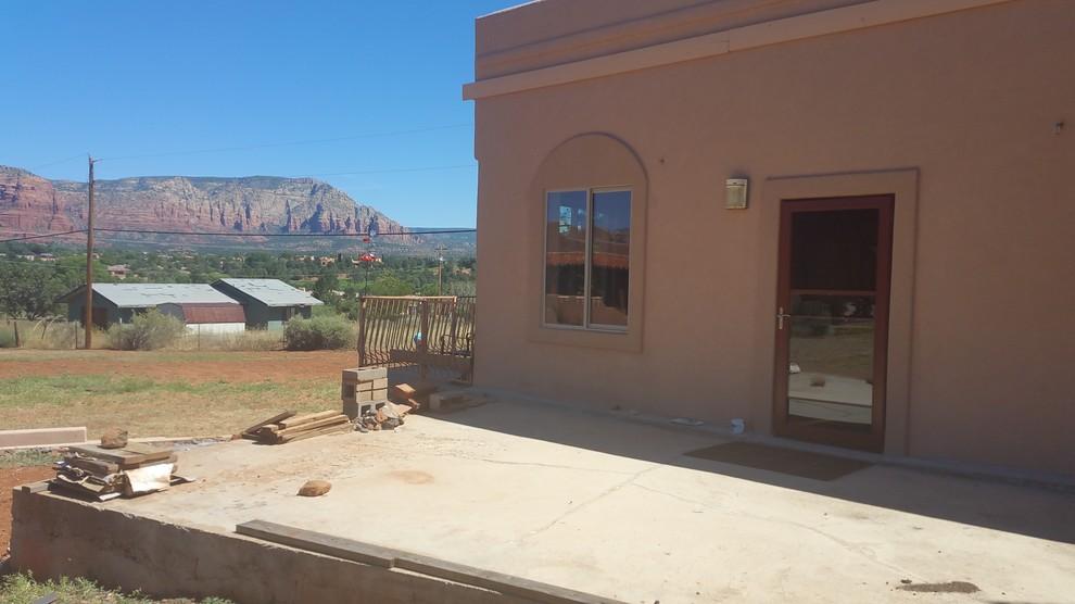 Wrap-around patio - before