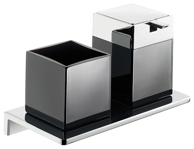 Asio 133120404 Soap Dispenser and Toothbrush Holder  : modern bathroom accessory sets from www.houzz.com size 628 x 482 jpeg 39kB