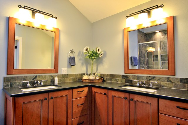 Master bathroom traditional bathroom portland by - Corner bathroom vanities for sale ...