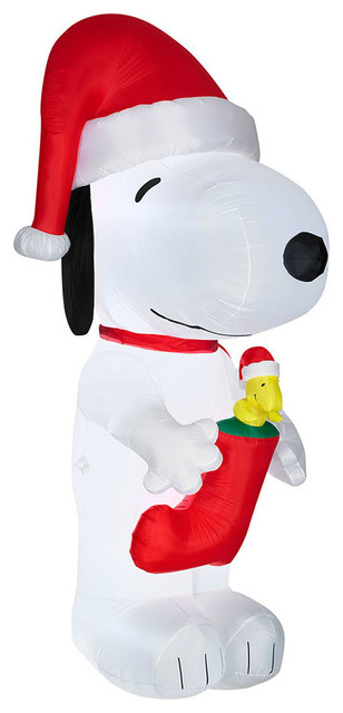 Inflatable Snoopy With Woodstock Stocking.