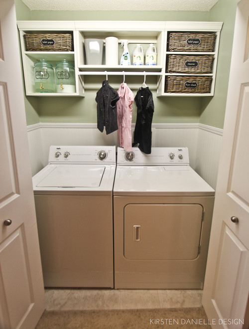 Love the shelving unit above the washer dryer for Shelf above washer and dryer