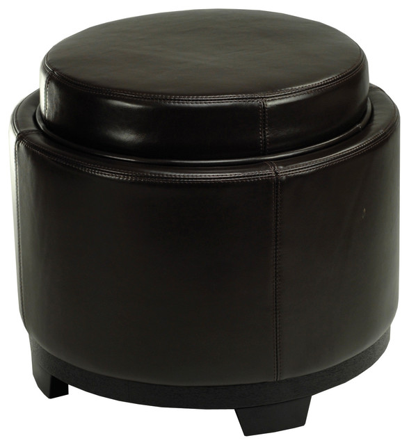 round storage tray ottoman contemporary footstools and