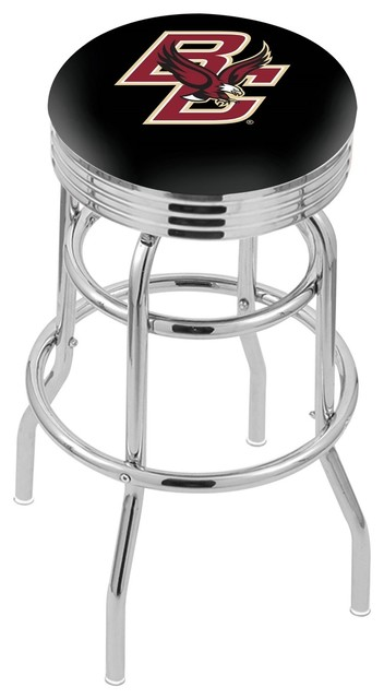 30 Quot Chrome Double Ring Boston College Swivel Stool With 3
