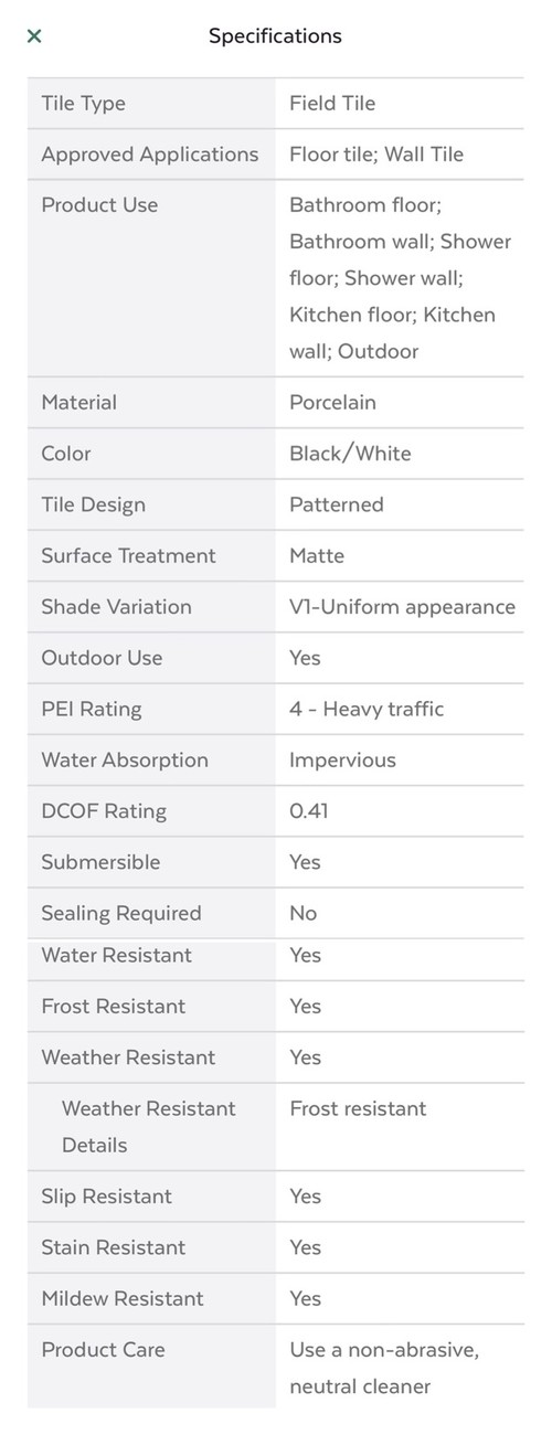Is This Pool Grade Tile - Dcof rating