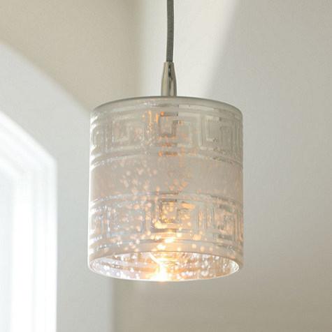 Greek Key 1 Light Pendant Traditional Pendant Lighting