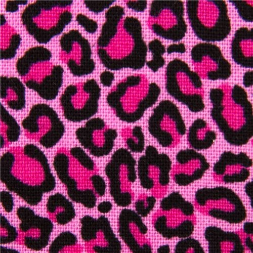 pink fabric with leopard pattern by Timeless Treasures USA