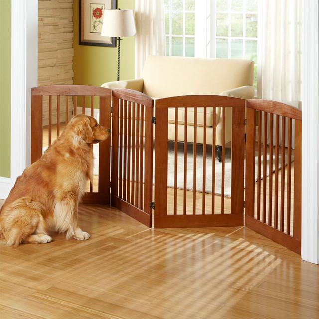 Panel Zigzag Dog Gate