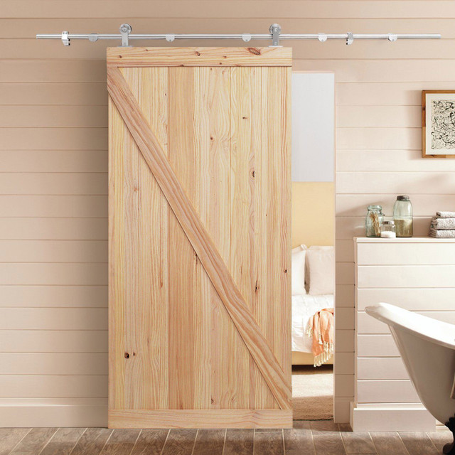 Z Bar Barn Style Unfinished Knotty Pine Interior Wooden Sliding Door Slab Farmhouse Doors By 4easy Inc