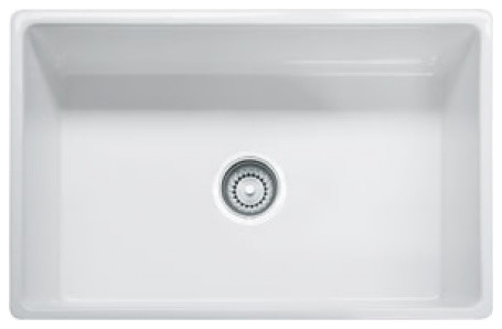 Franke 30 Farm House Fireclay Single Bowl A Front Sink White