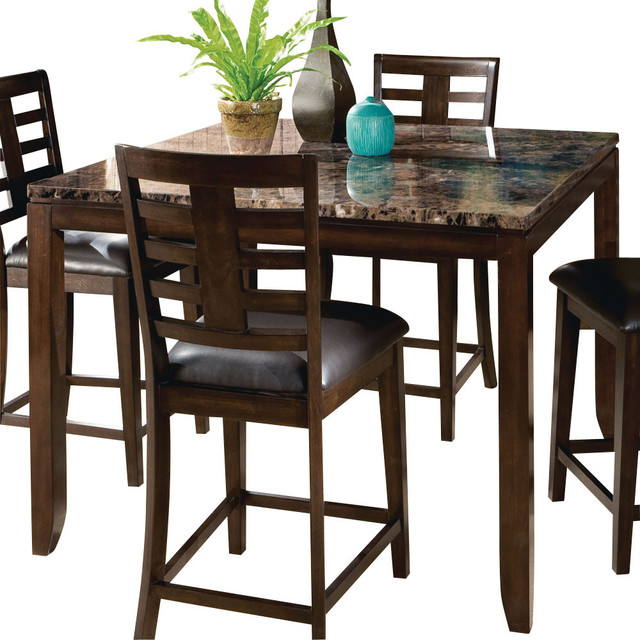 Countertop Dining Room Sets standard furniture bella square counter height table with faux